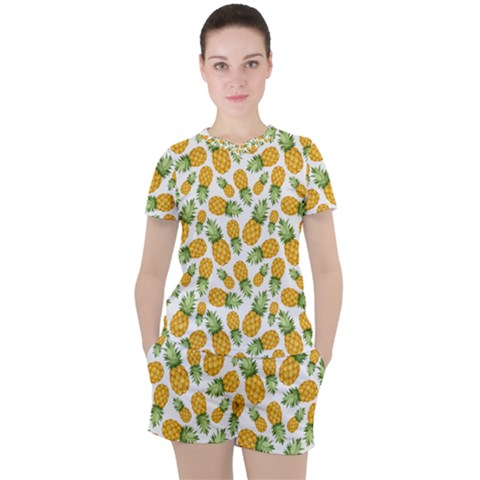 Pineapples Women s Tee And Shorts Set by goljakoff