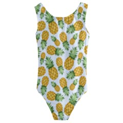 Pineapples Kids  Cut-out Back One Piece Swimsuit by goljakoff