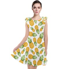 Pineapples Tie Up Tunic Dress by goljakoff