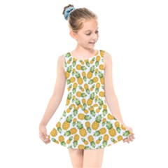 Pineapples Kids  Skater Dress Swimsuit by goljakoff