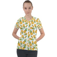 Pineapples Short Sleeve Zip Up Jacket by goljakoff
