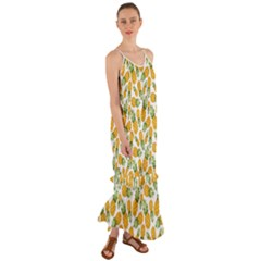 Pineapples Cami Maxi Ruffle Chiffon Dress by goljakoff