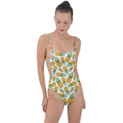 Pineapples Tie Strap One Piece Swimsuit by goljakoff