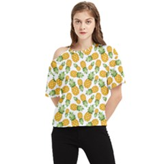Pineapples One Shoulder Cut Out Tee by goljakoff