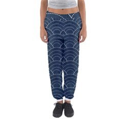 Blue Sashiko Pattern Women s Jogger Sweatpants by goljakoff