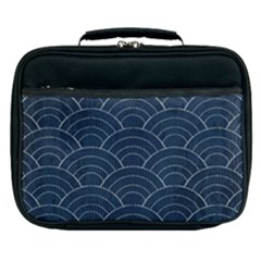 Blue Sashiko Pattern Lunch Bag by goljakoff