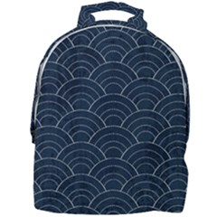 Blue Sashiko Pattern Mini Full Print Backpack by goljakoff