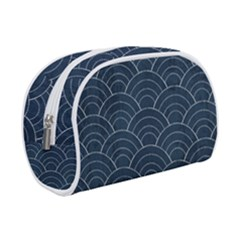Blue Sashiko Pattern Makeup Case (small) by goljakoff