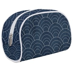 Blue Sashiko Pattern Makeup Case (medium) by goljakoff