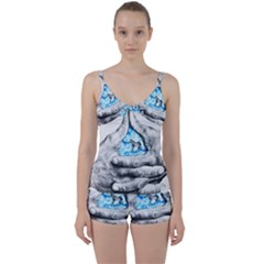 Hands Horse Hand Dream Tie Front Two Piece Tankini