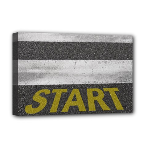 Asphalt Begin Bright Expectation Deluxe Canvas 18  X 12  (stretched)