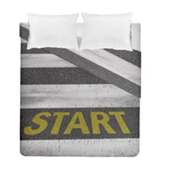Asphalt Begin Bright Expectation Duvet Cover Double Side (full/ Double Size)