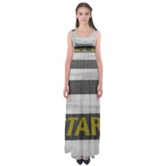 Asphalt Begin Bright Expectation Empire Waist Maxi Dress