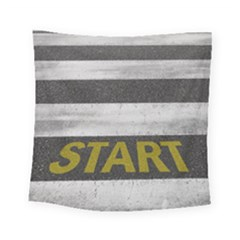 Asphalt Begin Bright Expectation Square Tapestry (small)