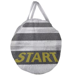 Asphalt Begin Bright Expectation Giant Round Zipper Tote