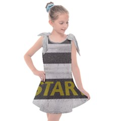 Asphalt Begin Bright Expectation Kids  Tie Up Tunic Dress