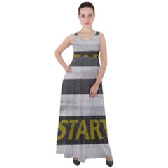 Asphalt Begin Bright Expectation Empire Waist Velour Maxi Dress