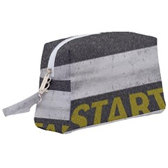Asphalt Begin Bright Expectation Wristlet Pouch Bag (large)