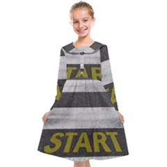 Asphalt Begin Bright Expectation Kids  Midi Sailor Dress