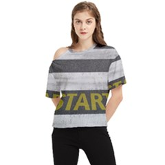 Asphalt Begin Bright Expectation One Shoulder Cut Out Tee