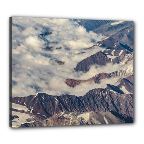 Andes Mountains Aerial View, Chile Canvas 24  X 20  (stretched)