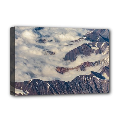 Andes Mountains Aerial View, Chile Deluxe Canvas 18  X 12  (stretched)
