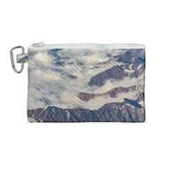 Andes Mountains Aerial View, Chile Canvas Cosmetic Bag (medium)