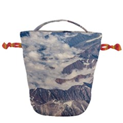 Andes Mountains Aerial View, Chile Drawstring Bucket Bag