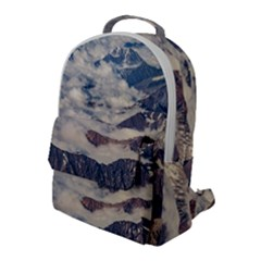 Andes Mountains Aerial View, Chile Flap Pocket Backpack (large)