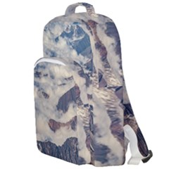 Andes Mountains Aerial View, Chile Double Compartment Backpack