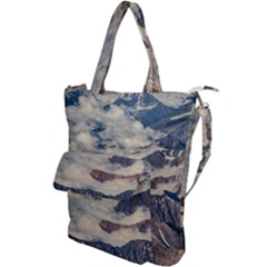 Andes Mountains Aerial View, Chile Shoulder Tote Bag