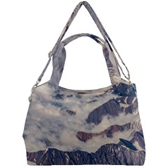 Andes Mountains Aerial View, Chile Double Compartment Shoulder Bag
