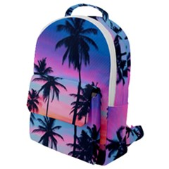 Sunset Palms Flap Pocket Backpack (small) by goljakoff