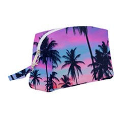 Sunset Palms Wristlet Pouch Bag (medium) by goljakoff