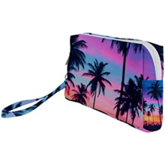 Sunset Palms Wristlet Pouch Bag (small) by goljakoff