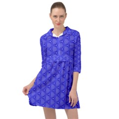 Blue-monday Mini Skater Shirt Dress by roseblue