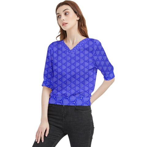 Blue-monday Quarter Sleeve Blouse by roseblue