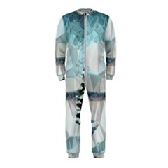 Winter Landscape Low Poly Polygons Onepiece Jumpsuit (kids)