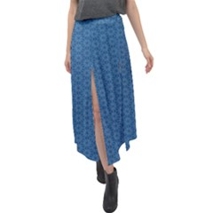 Classic Blue #17 Velour Split Maxi Skirt