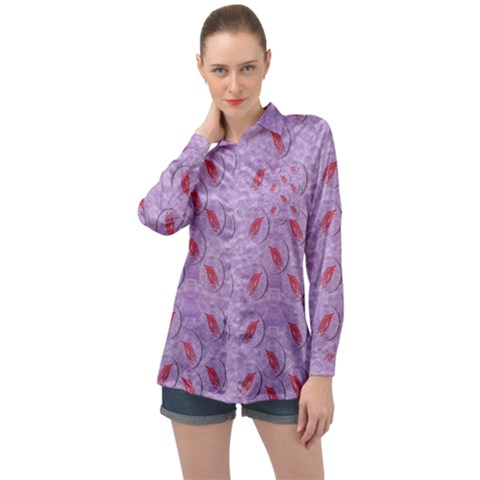 Tropical Flower Forest Of Ornate Colors Long Sleeve Satin Shirt by pepitasart