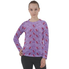 Tropical Flower Forest Of Ornate Colors Women s Long Sleeve Raglan Tee