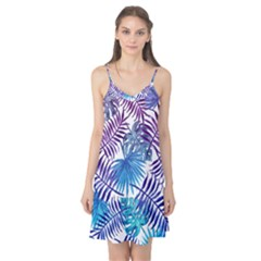 Blue Tropical Leaves Camis Nightgown by goljakoff