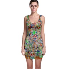 Pop Art - Spirals World 1 Bodycon Dress by EDDArt
