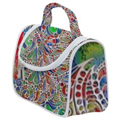 Pop Art - Spirals World 1 Satchel Handbag by EDDArt