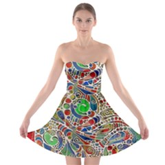 Pop Art - Spirals World 1 Strapless Bra Top Dress by EDDArt