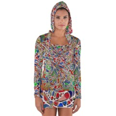 Pop Art - Spirals World 1 Long Sleeve Hooded T-shirt by EDDArt