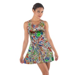 Pop Art - Spirals World 1 Cotton Racerback Dress by EDDArt
