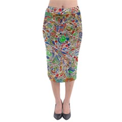 Pop Art - Spirals World 1 Midi Pencil Skirt by EDDArt