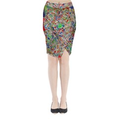 Pop Art - Spirals World 1 Midi Wrap Pencil Skirt by EDDArt
