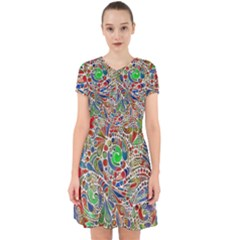 Pop Art - Spirals World 1 Adorable In Chiffon Dress by EDDArt